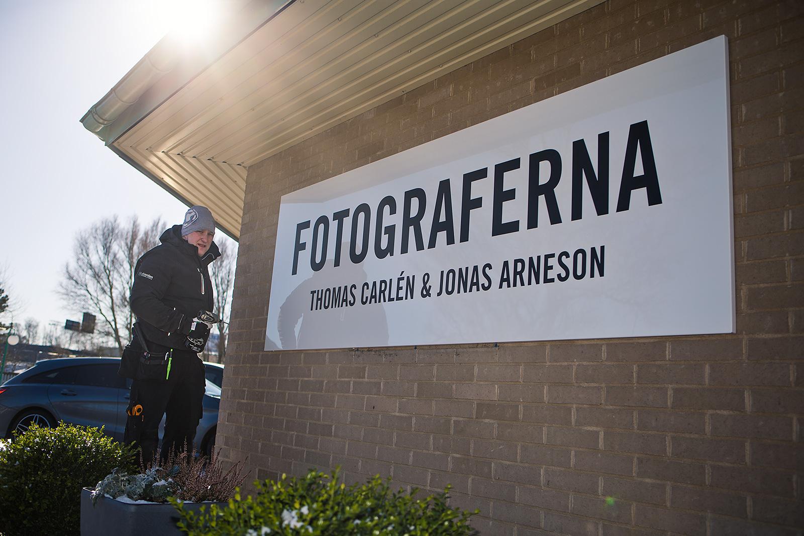 Fotograferna i Varberg, fasadskyltar